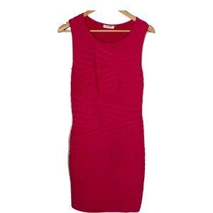 Calvin Klein Womens Sleeveless Sheath Dress Pleats